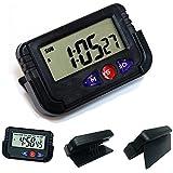 CPEX Digital LCD Alarm Table Clock Timer Stopwatch (Black, 6351)