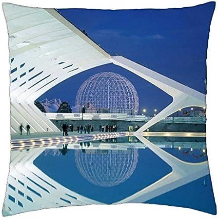 Valencia España arquitectura moderna – Funda de almohada manta (16