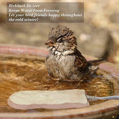 GESAIL Birdbath De-icer Heater for Outdoor, 50W Birdbath Heater for Bird Bath in Natural Color with Premium Cast Aluminum