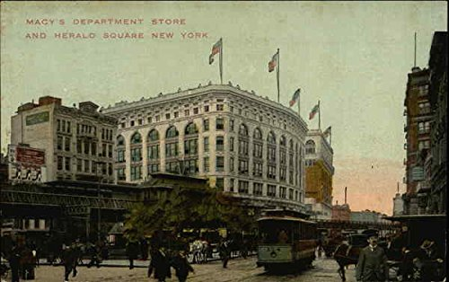 Macy's Department Store and Herald Square New York, New York Original Vintage - Macy's New Square Herald York