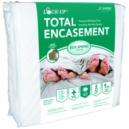 JT Eaton 80QUBOX Lock-Up Total Encasement Bed Bug Protection for Queen Size Box Spring