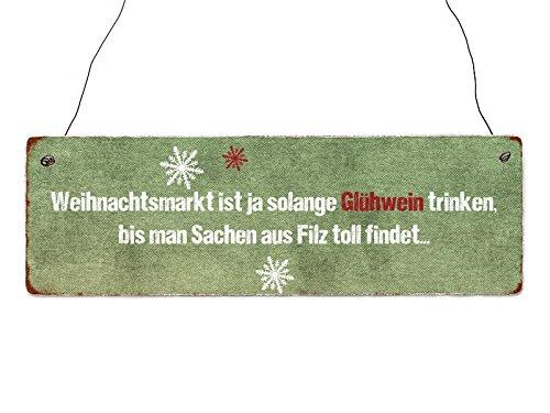 Interluxe Holzschild Weihnachtsmarkt Ist Ja Solange Glühwein