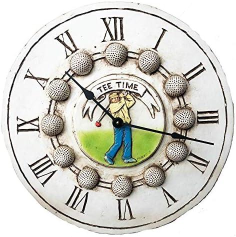 Piazza Pisano Golf Decor Wall Clock Tee Time