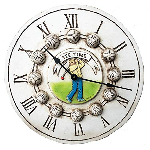 Tee Time Golf Clock - Piazza Pisano Golf Decor Wall Clock Tee Time