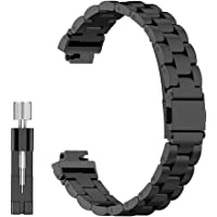 Haotop Stainless Steel Link Bracelet Strap Bands Compatible for Fitbit Inspire/Inspire HR(Watch Not Included)