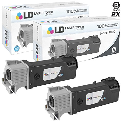 LD Compatible Toner Cartridge Replacement for Dell 310-9058 KU052 High Yield (Black, 2-Pack) (Dell Dt615)