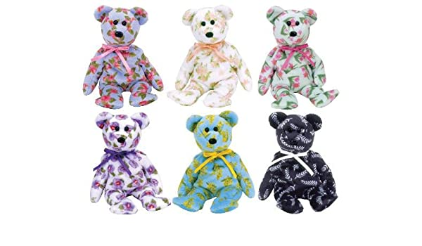 092d3117c0b Amazon.com  TY Beanie Babies - ASIA PACIFIC 2004 Exclusive Bears (Set of 6)  (8.5 inch)  Toys   Games