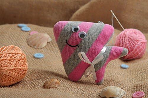 Llavero hecho a mano de tela anillo para llaves juguete de peluche pez