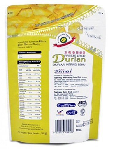 MUST BUY ! 120 Pack DXN Alor Freeze Dried DURIAN Preserved With Original Characteristics ( 50 Per Pack )