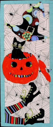 Artsi2 A2EVHALL Everything Halloween Wall Hanging Kit (Halloween Quilt Wall Hanging Patterns)