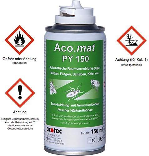 ACO.MAT PY 150 Spray insecticida contra Insectos: Amazon.es: Jardín
