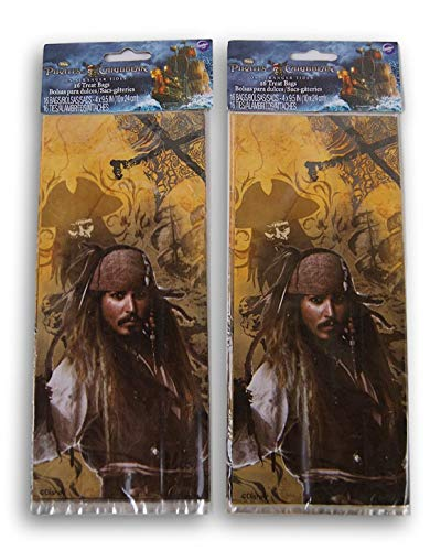 (Pirates of The Caribbean On Stranger Tides Party Favor Loot Bag - 32 Count)