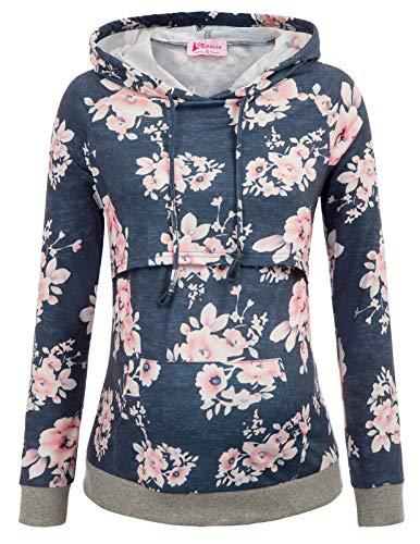 Women's Maternity Hoodie Breastfeeding Tops Nursing Sweatshirt with ()