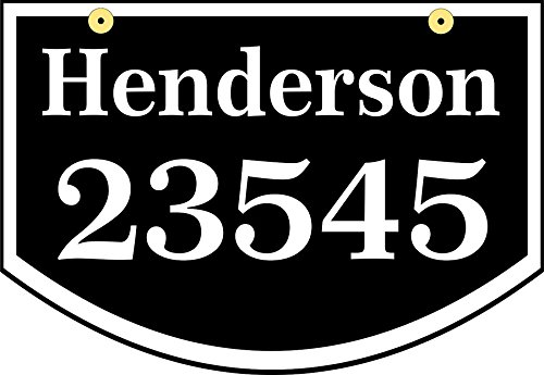 Hanging Address Plaque - Custom 2 Sided Address Sign with Name and House Number - For Home or Business - Comfort House # CSHA1610