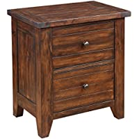 Modus Furniture 9CR181 Cally Solid Wood Nightstand, Antique Mocha