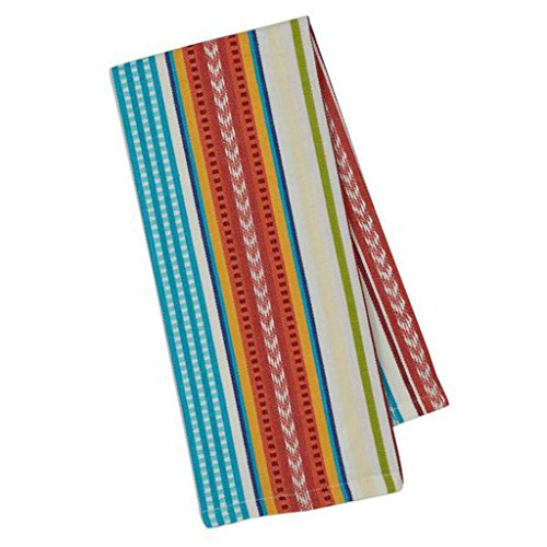 Cantina Cotton Southwest Table Linens, Dishtowel 18-Inch by 28-Inch, Baja Stripe (Southwestern Gift)
