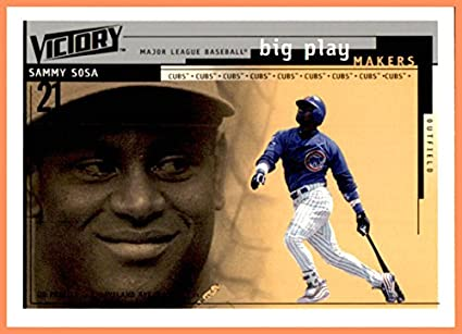 a03070b0e 2000 Upper Deck Victory #379 Sammy Sosa CHICAGO CUBS at Amazon's ...