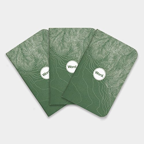 Word. Notebooks Green Terrain - 3-Pack Small Pocket Notebooks