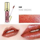 OVERMAL Lip Glosses Waterproof Long Lasting Liquid Velvet Matte Lipstick Makeup Lip Gloss Lip (08# Lip Gloss)