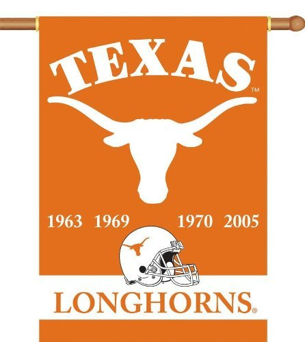 NCAA Texas Longhorns Champ Years 2-Sided 28-by-40 inch House Banner with  Pole Sleeve