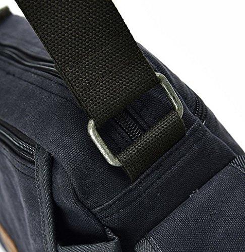 à bandoulière Mode bandoulière Sacs AgooLar Bleu Sacs Femme Zippers Toile à UtKFUTwz8q