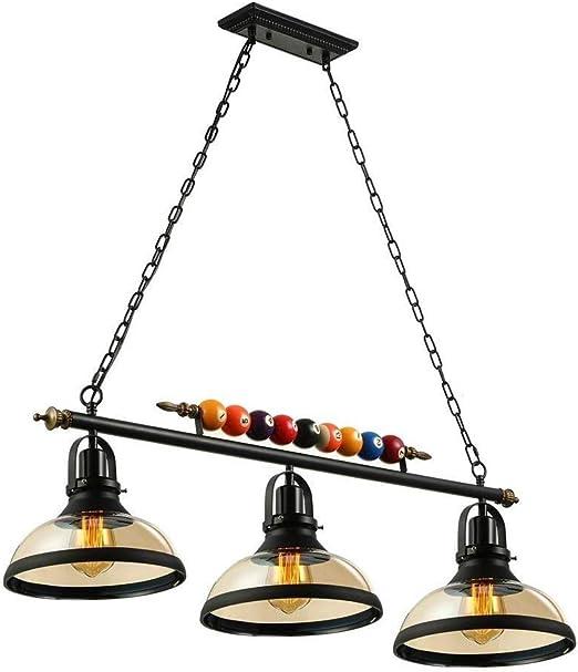 Q&N Mesa de Billar Billar Luz Decoración de la lámpara con 3 Luces ...