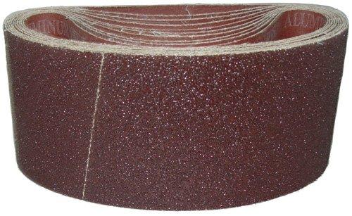 Magnate K4X21S12 4'' x 21'' Open Coat Sanding Belt, Aluminum Oxide - 120 Grit; X Weight; 10 Belts/Pkg