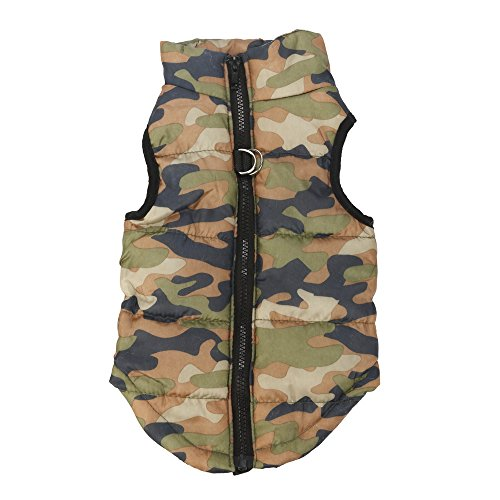 Howstar Pet Classic Coat, Puppy Winter Warm Outfit Camouflage Apparel Tops (F, XXS)