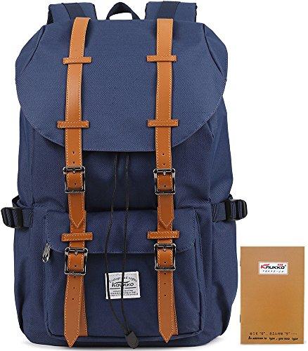 KAUKKO-Unisex-Mochila-al-aire-libre-con-2-bolsillos-laterales-para-senderismo-Viajar-Escuela