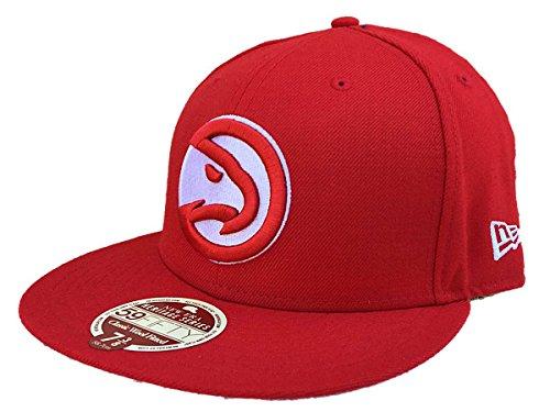 New Era Atlanta Hawks Heritage Black Classic Wool Fitted 59Fifty Hat Cap (7) (Atlanta Hawks Fitted Cap)