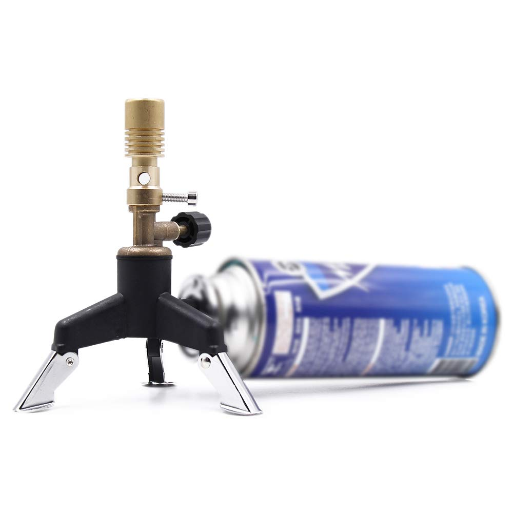 Brass Bunsen Burner with Tripod Designed for Butane Cylinder