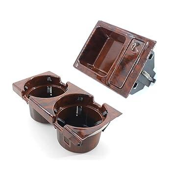 Majome Caja del sostenedor de Moneda de la Taza de la Bebida de la Consola del Centro de la Fibra de Carbono para BMW Serie 3 E46 99-06: Amazon.es: ...