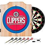 NBA Los Angeles Clippers Design Deluxe Solid Wood Cabinet Complete Dart Set