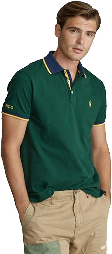 Polo Ralph Lauren Custom Slim Fit Mesh Polo: Amazon.es: Ropa y ...