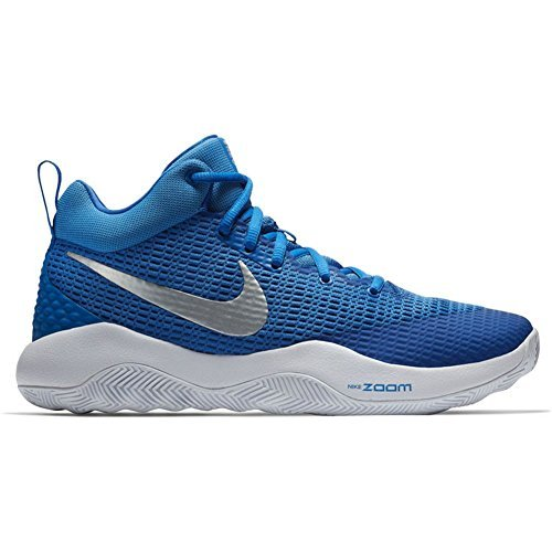 d8482ae4cafa Nike Men s Zoom Rev TB Basketball Shoes Royal Blue Metallic Silver-White  (922048-400) Size 6.5
