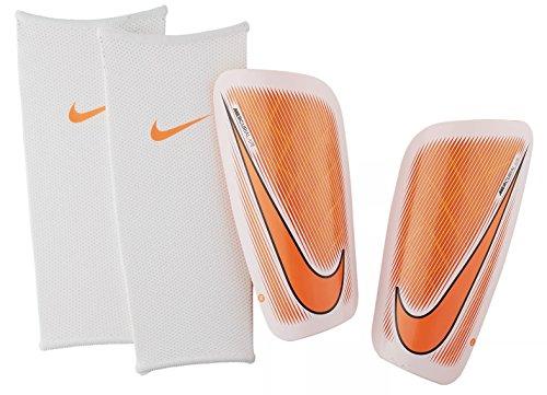 Nike Mercurial Lite Soccer Shin Guards (Small) White, Black