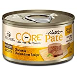 Wellness CORE Natural Grain Free Wet Canned Cat Food, Indoor Chicken & Chicken Liver, 3-Ounce Can (12 pack)
