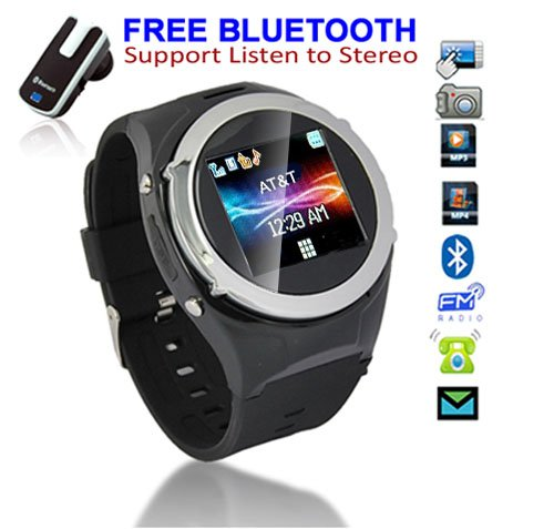 Unlocked! GSM Touch Screen Watch Phone w/ Free Bluetooth Headset [aTandT / T-Mobile], Best Gadgets