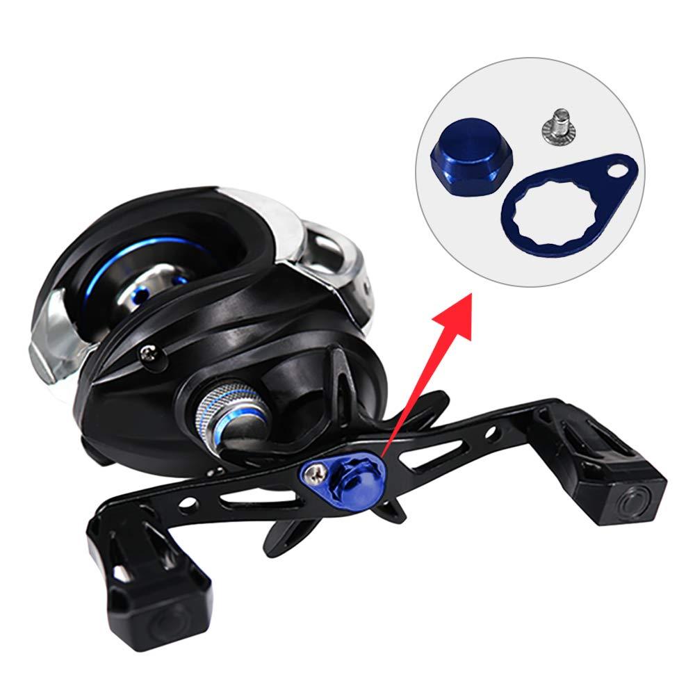 Festnight Fishing Reel Locking Plate Screw Nut Cap Bearing Cover DIY Fishing Reel Handle Accessory for Left//Right Shimano Baitcasting Reel