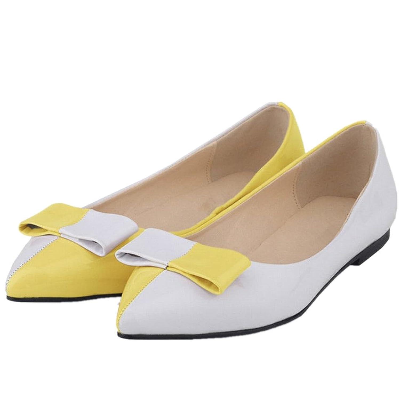 SAMSAY Women's Basic Pointy Toe Slip On Ballet Flat Shoes