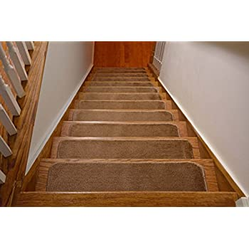 comfy stair tread treads indoor skid slip resistant carpet machine washable set beige non home depot lowes ikea