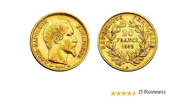 20 Franken Napoleon, 20 Francs Napoleon, moneda de oro, moneda de Anlagegold, oro fino, metal precioso: Amazon.es: Industria, empresas y ciencia