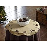 Reindeer Prancer Snowflake Mini Christmas Tree Skirt 21 Inches Holiday Decorations