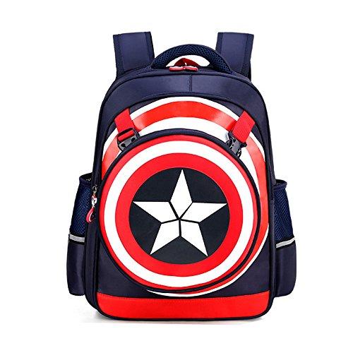 Kids Backpack,Captain America Waterproof Comic School Bag for...