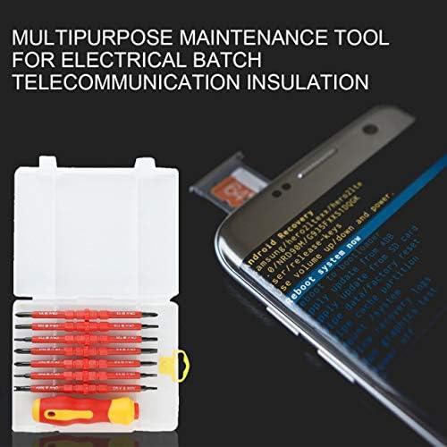 多機能ドライバーセット携帯電話修理ツールキット通信絶縁多目的修理ツール-赤