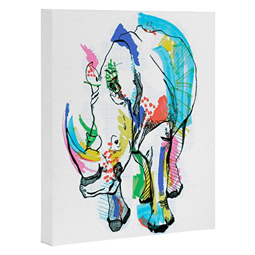 - Deny Designs Casey Rogers, Rhino Color, Art Canvas, Small, 8
