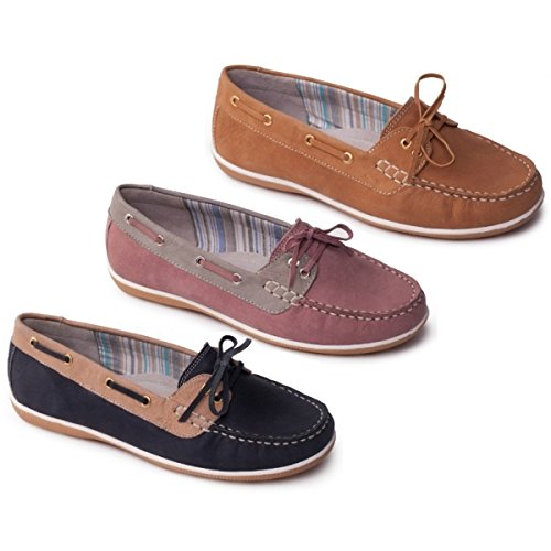 Tan Padders Leather Marina Loafers Wide Ladies rXfFwqX