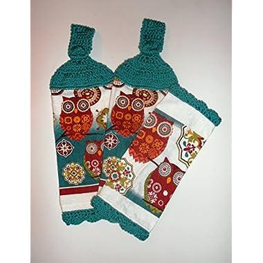 Owl Kitchen Towel & Dishcloth Set