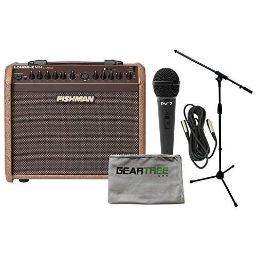 Battery Powered Digital Guitar Amp - Fishman Loudbox Mini Charge Battery Powered Acoustic Guitar Amp Bundle