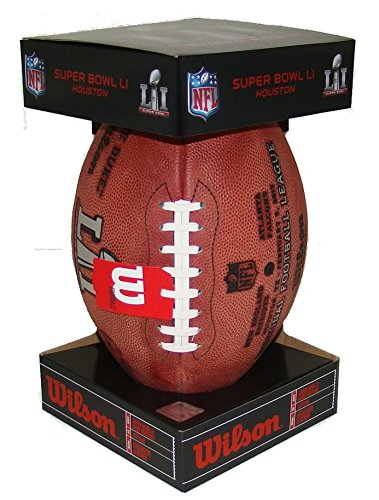 Wilson Super Bowl 51 Game Football, with PATRIOTS and FALCONS names, Official Size and Weight in COMMEMORATIVE SB51 BLACK BOX! (Best High School Football Teams In Texas 2019)